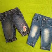 Лот джинсів для крихітки 3-9 місяців