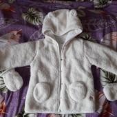 теплая куртка кофта меховушка 18 месяцев