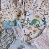 Лот слипы, пижама, песочники, бодики  6-9 м