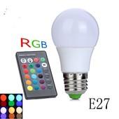Светодиодный Лампа 7W E27 12 Цветов с пультом дистанционного управления!создай атмосферу праздника