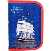 Пенал без наполнения школьный Kite Sea adventure K18-622-6