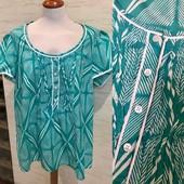 Размер 54-56! Новая (сток) лёгкая коттоновая (как батист) блуза! Без дефектов!