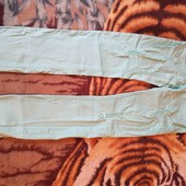бирюзовый  модные брюки.