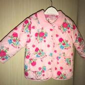 Демісезонна куртка на вік 12-18 місяців