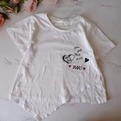 Милая хлопковая футболка на девочку Matalan, на бирочке 11 лет