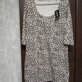 Фирменное новое трикотажное платье из коттона вискозы эластана р.14-16