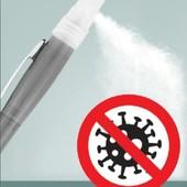 Ручка с распылителем. 1шт.удобно./можнт заливать антисептик или любимые духи/