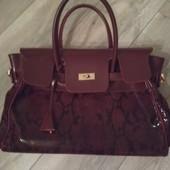 Женская сумка! Цвет бордо
