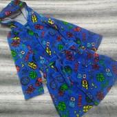 Яркий мягусенький теплый флисовый халат на мальчика 5-6 лет