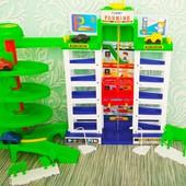 Конструктор парковка, 6 этажей, 4 машинки  Игровой набор паркинг  Гараж мега парковка 