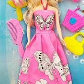 "Кукла типа Барби ""Модельер"" 6628-7 | Кукла для творчества ""Платье-раскраска"""