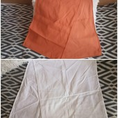 Одним лотом белоснежная +оранжевая скатерть-дорожка на стол