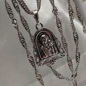 шикарная иконка-ладанка Божья Матерь в оригинальной оправе, родий