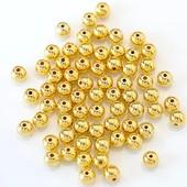 Бусинки золотые 6мм. Лот 30 шт