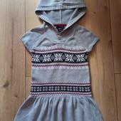 Вязаное платье с люррексной нитью на 5-6 лет, рост 116. Идеал