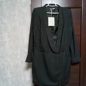 Фирменный новый красивый вискозный удлиненный платье-пиджак р.12-14(40евро)