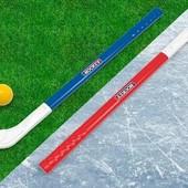 """Набор для актив.игры на траве/льду в хоккей""""ТехноК"""".2 клюшки,дл.72см,шайба и шарик.Набор-супер❣❣"""