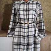 Собираем лоты!!! Мягкая рубашка-платье ,размер 42/12,100%вискоза