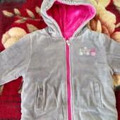 Прекрасная теплая двухсторонняя куртка на девочек от ТМ Соня 92-98