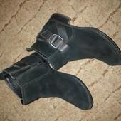 Ботинки натуральный замш с элементами кожи 23.5