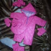 комбинезон с сумочкой +повязка +варежки +сапожки на пупса беби бёрн