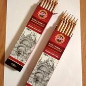 Набор графитных карандашей 12шт. Koh-i-Noor 6-H дерево, 1 набор в лоте