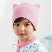 ☘ Лот 1 шт☘ Яскрава шапочка, біо-бавовна, Tchibo (Німеччина), розмір: 19,5см, рожева