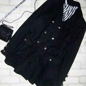 Шикарное дизайнерское укороченное пальто