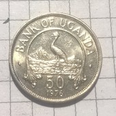 Монета Уганды 50 центов 1976