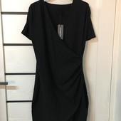 Элегантное черное платье на запах Our Heritage (Англия), рр. L