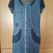Красивое летнее платье из вискозы-стрейч, Турция, наш р. 56