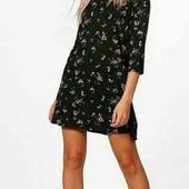 красивое платье в цветок рр 14, boohoo