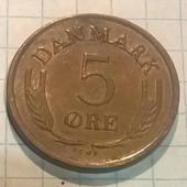 Млнета Дании 5 эре 1964