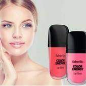 Глянцевый блеск для губ «Волна цвета» faberliс- придает визуальный объем и блеск!
