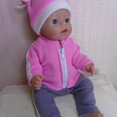 Костюм спортивный ! Из мягкого флиса для куклы Беби борн ростом 43 см.Или подобных кукол .