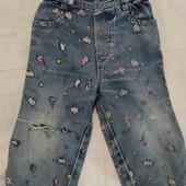 джинсы 9-12 месяцев