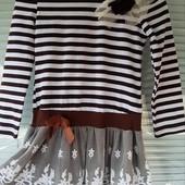 !!!Платье-туника с фатиновой юбочкой