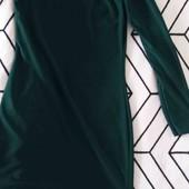 шикарное платье темно-зеленое, prettylittlething,на одно плече ,рр 10
