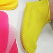 Дождевик для обуви, силиконовые чехлы для обуви от дождя, непромокаемые сапоги.Бахилы от дождя, защи