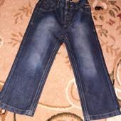 Плотные коттоновые джинсы George на 3-4 года в идеале