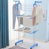 Стойка, вешалка сушилка для белья, для одежды Garment rack with wheels складная 4 яруса, металл, 173