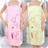 Мягкое полотенце - халат на кнопках Размер 1,4 х 0,9
