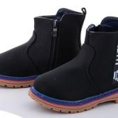 Класные, качественные ботинки на флисе, деми