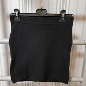 Спідниці чорні трикотажні лот-2шт