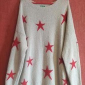 Стильный свитер со звёздами большого размера,,Сербия