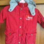 Куртка, внутри флис, холодная весна, размер 3 года 94 см, О'kids Vertbaudet. состояние хорошее