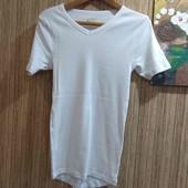 Базовая,белая футболка от Livergy