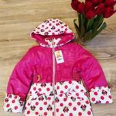 Детская куртка для девочки Демисезонная р. 98- 110 Весна