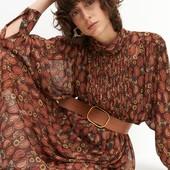 ❤️Reserved оригинал❤️фирменное шифоновое платье с поясом размер L