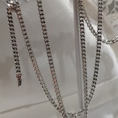 новинка! очень красивая и нежная цепочка, плетение панцирное 50 см, родий